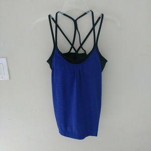 6a752cc757 Women s Black And Blue Athleta Tank Top on Poshmark